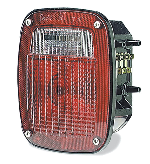 Grote Torsion Mount 3-Stud Navistar/Volvo Stop/Tail/Turn Lamp, Red