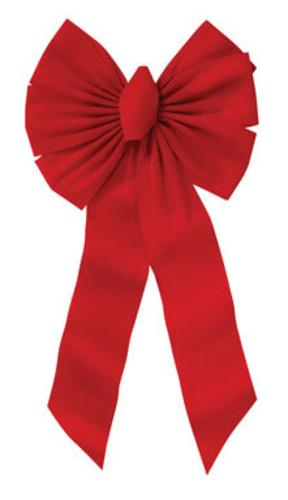 Holiday Trims 7355 Velvet Bow, Red, 14
