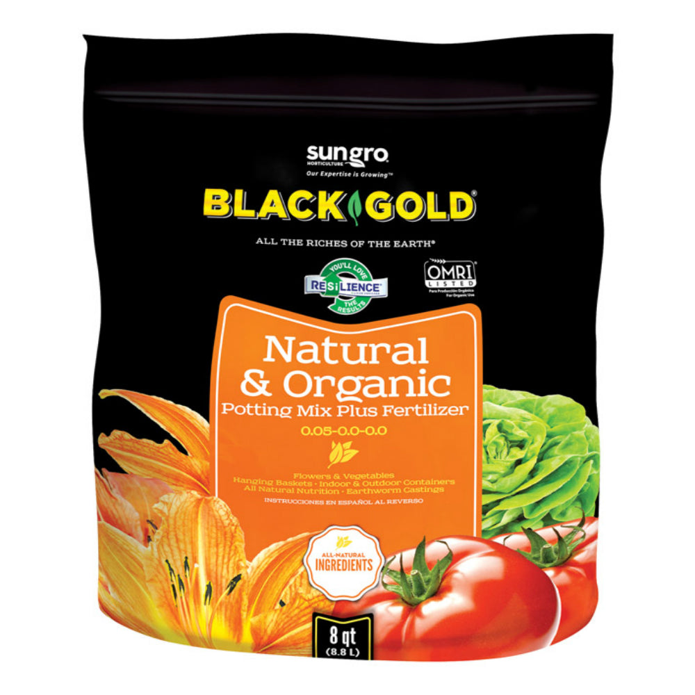Black Gold 1402040 8. Qt P Natural & Organic Potting Soil, 8 Quart