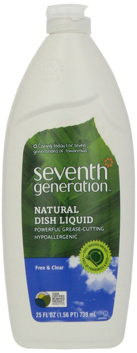 Seventh Generation Natural Dish Liquid, 25 Oz