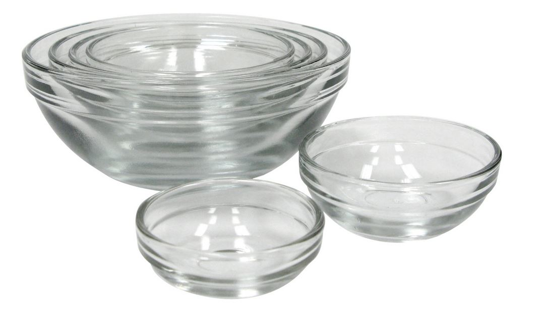 Anchor Hocking 4907 Prep Glass Bowl, 6 Piece