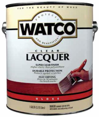Watco 63031 Wood Finish Lacquer Gloss Clear, 1 Gallon