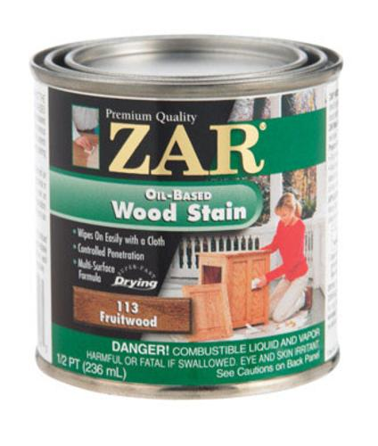 Zar 11306 Wood Stain Oil Base Interior Fruitwood, 1/2 Pt