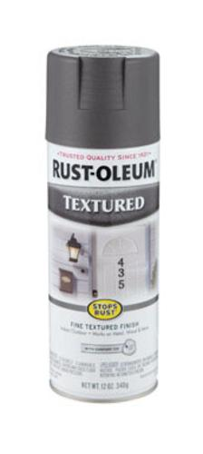 Rust-Oleum 7221-830 Textured Spray, Dark Pewter,12 Ounce