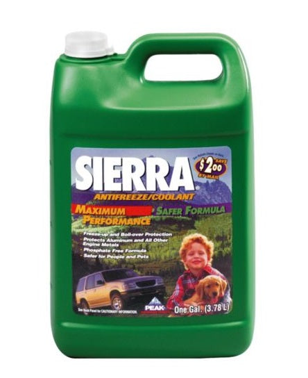 Peak SEP003 Sierra Maximum Performance Antifreeze/Coolant, 1 Gallon