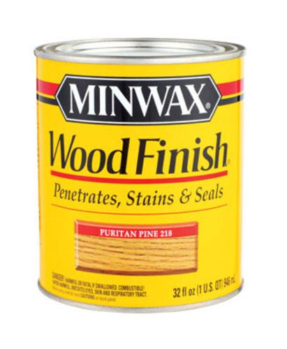 Minwax 70003 Wood Stain Oil Base Interior, Puritan Pine, 1 Quart