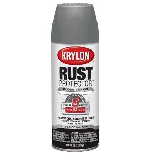 Krylon 69018 Rust Protector Spray Paint, 12 Oz, Smoke Gray