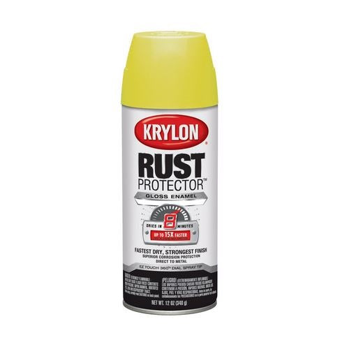 Krylon 69010 Rust Protector Spray Paint, 12 Oz, Yellow