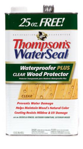 Thompson's 11802 Waterseal Wood Protector Clear, 1.25 GL