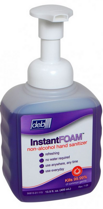 Deb 56815 Hand Sanitizers, Non-Alcohol, 400ml