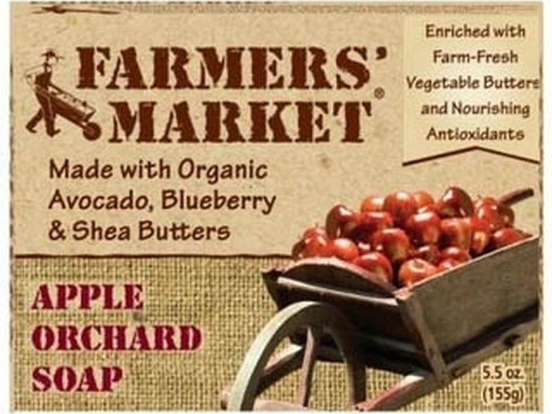 Farmers Market 946872078-12PK Bar Soap,5.5 Oz, Apple Orchard