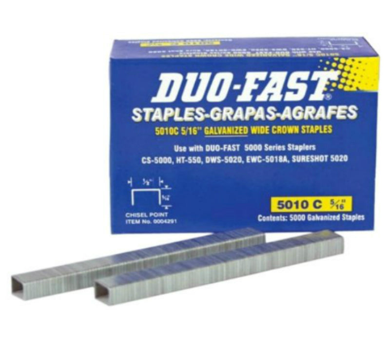 Duo-Fast 5010C Galvanized Wide Crown Staples, 5/16