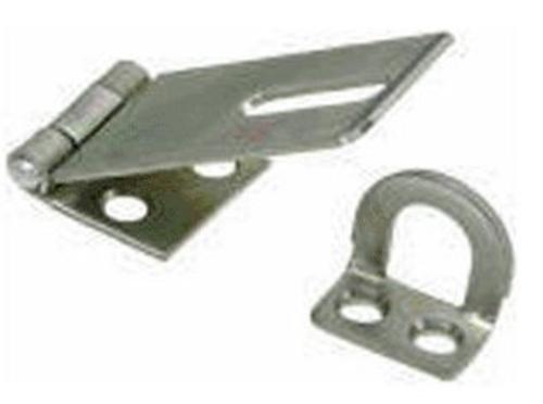 Stanley 348-268 Safety Hasps, Stainless Steel, 4-1/2