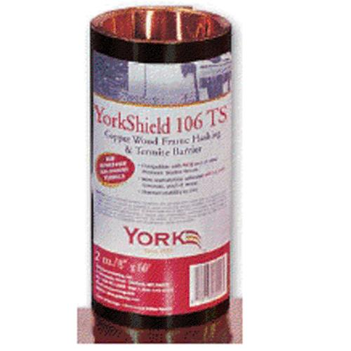 York Manufacturing RESYSO208 Yorkshield TS Termite Shield Copper Flashing, 8