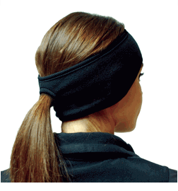 Hot Headz W-PEX-PON-100 Pony Tail Ear Warmer, Black