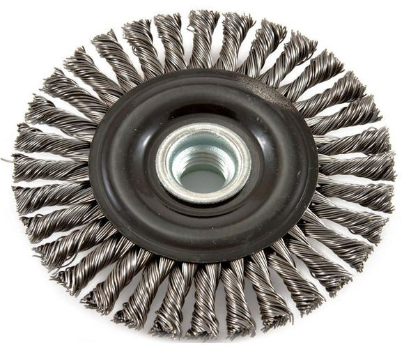 Forney 72846 Industrial Pro Stringer Bead Twist Knot Wire Wheel Brush