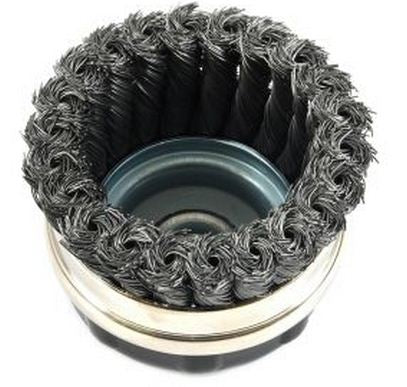 Forney 72869 Industrial Pro Twist Knot Wire Cup Brush, 4