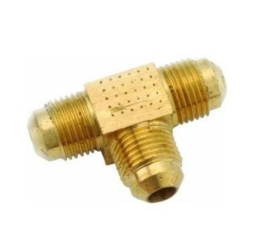 Anderson Metals 754045-0808 Brass Flare Tee Fittings, 1/2