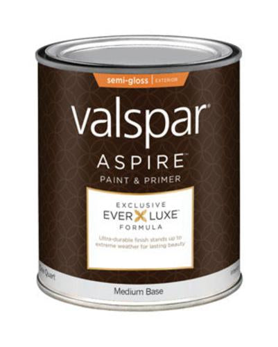 Valspar 157.0057182.005 Aspire Exterior Semi-Gloss Paint, 1 Quart