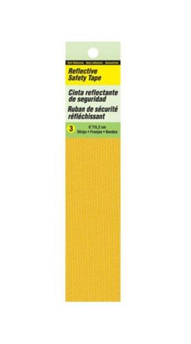 Hy-Ko TP-3Y Reflective Tape, Yellow, 6