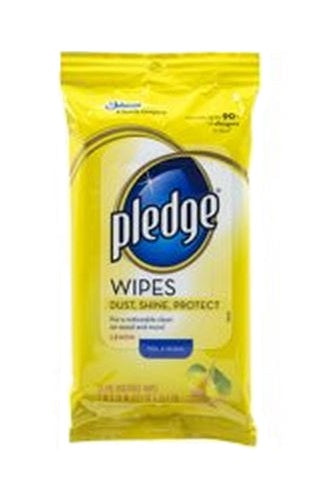 Pledge 72807 Furniture Wipes, Lemon Scent