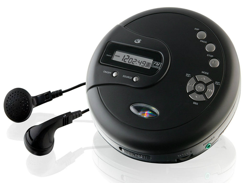 GPX PC332B Portable CD Player, Black