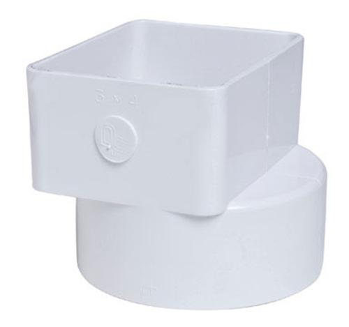 Plastic Trends P1926 PVC Flush Downspout Adapter, 3