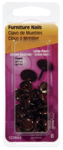 Hillman 122689-N Furniture Nails, Brown, Card of 25