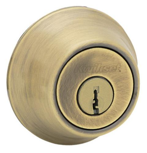Kwikset 96600-505 Single Cylinder Deadbolt K3 - Antique Brass