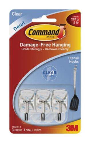 Command 17067CLR Mini Clear Wire Hooks With, Clear Strips