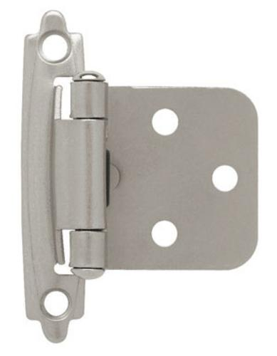 Liberty Hardware H0103BL-SN-U1 Self Closing Overlay Hinge 3/8
