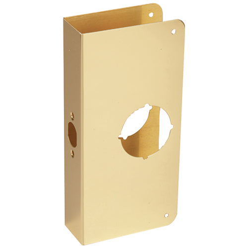 Prime-Line U 9550 Lock And Door Reinforcer, Solid Brass, 2-1/8