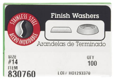 Hillman 0830760 Finish Washer, Stainless Steel, # 14