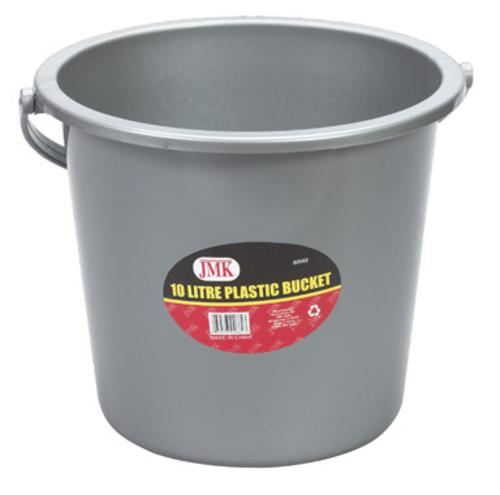 Jmk 02662 Bucket With Handle 10 Liter, Gray