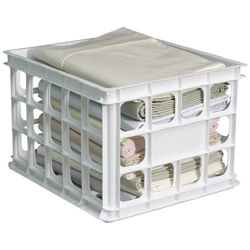 Homz 0704BK-EP.06 File Crate, White