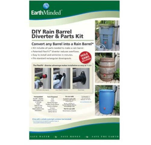 Earthminded F-rn025 Diy Rain Barrel Kit Plastic