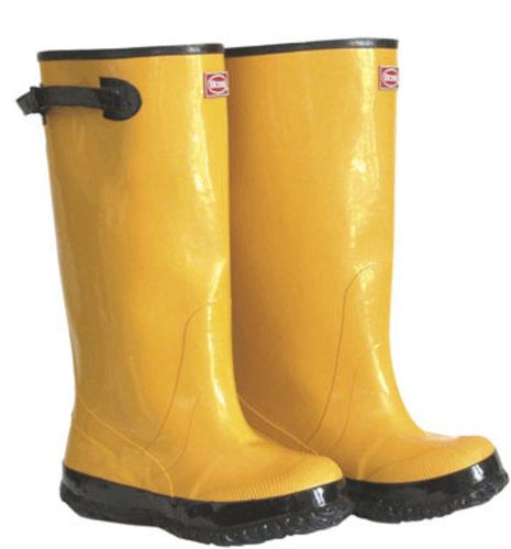 Boss 2KP448107 Over The Shoe Rubber Leggin Boot, Size 7, Yellow