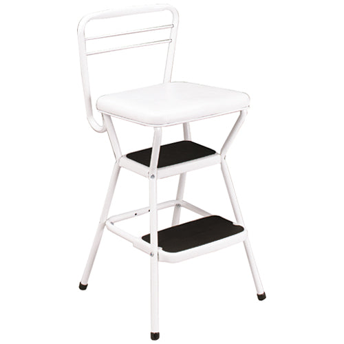 Cosco 11-130WHT Chair Stool, 200 Lb, 17-1/2