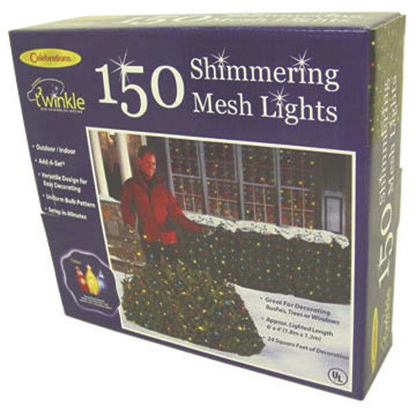 Celebrations P92M42A1 Shimmering Net Lights,150 Multi-ColorLights
