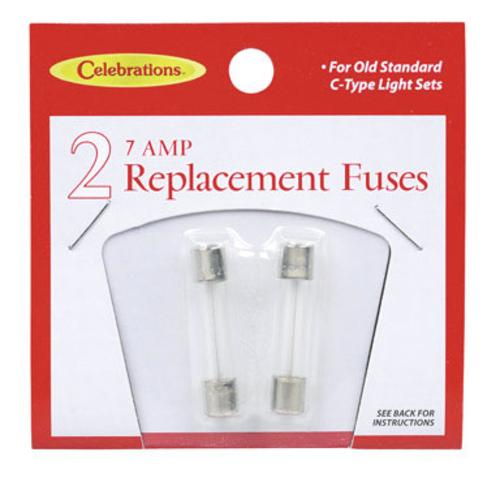 Celebrations 101F-71 Replacement Fuse, Glass, 7 Amp, 2 Lights