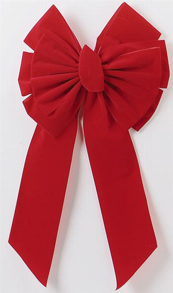 Holiday Trims 7365 Center Loop Velvet Bow, 14