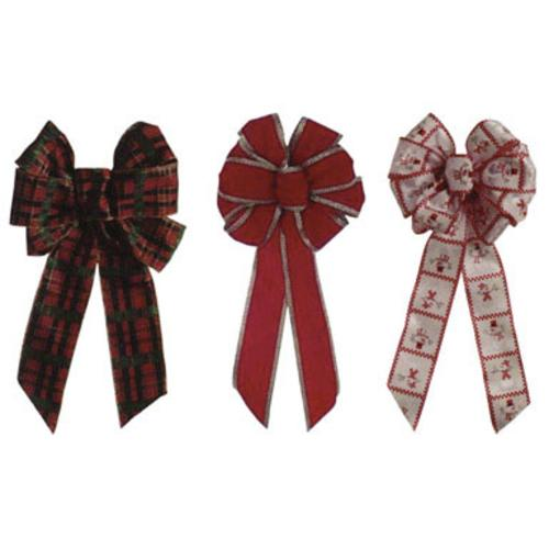 Holiday Trims 7936 Plaid Wire Bow, 15