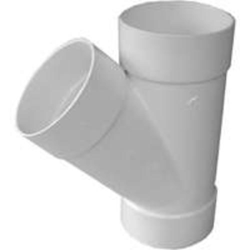 Genova 41040 Pvc Sewer & Drain All Hub 45-Degree Wye, 4