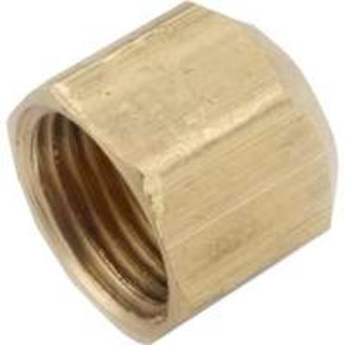 Anderson Metal 754040-08 Brass Flare Fitting Cap 1/2