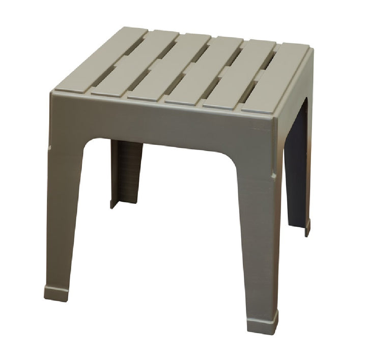 Adams 8090-13-3731 Big Easy Square Stackable Side Table, Polypropylene