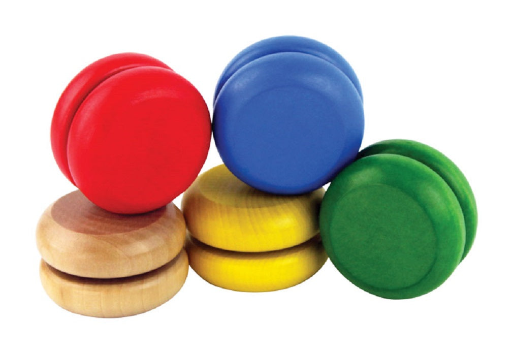 Aero-Motion YO0100 Yo-Yo, Wood, Assorted Color