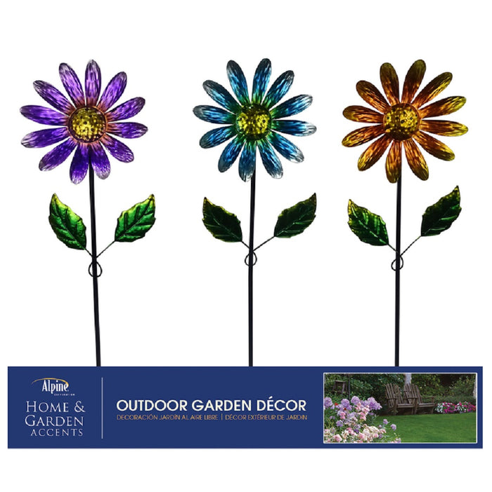 Alpine LJJ1218A Outdoor Garden Stake, Metal, Assorted Color