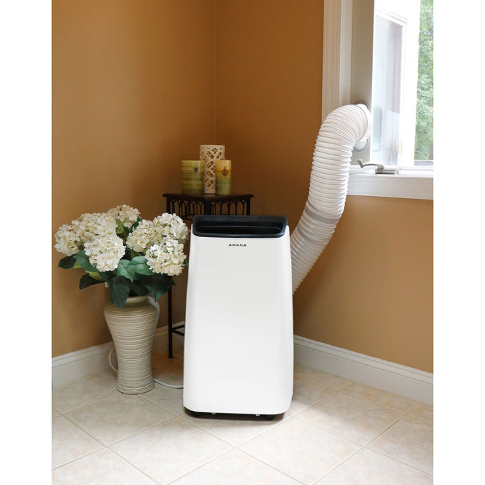 Amana AMAP121AB Portable Air Conditioner, White/Black, 10000 BTU