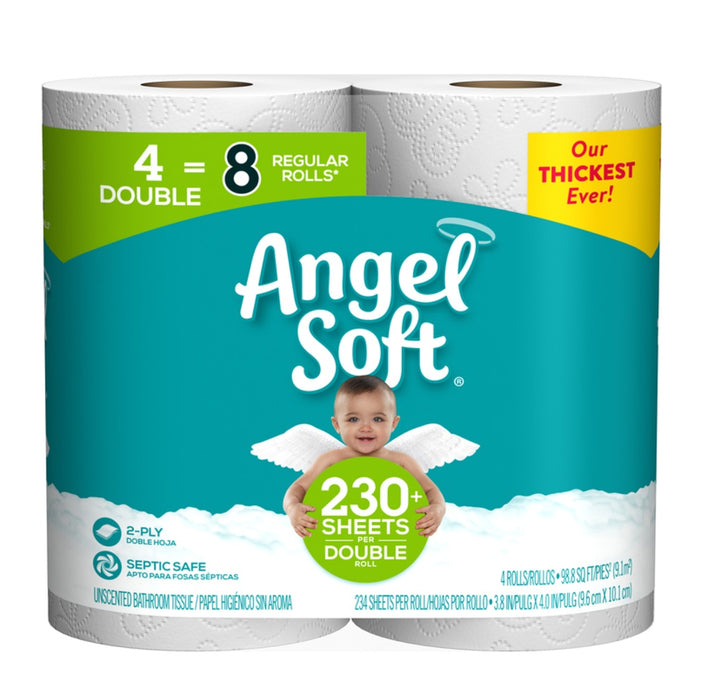 Angel Soft 79184 Toilet Paper, White