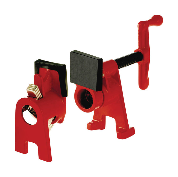 Bessey BPC-H34 BPC Pipe Clamp Fixture Set, Iron, Red